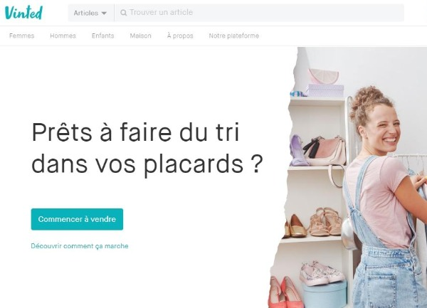 Example of a good Landing Page Vinted